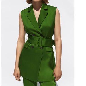 Zara Green Blazer/Dress, NWT.
